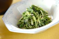 水菜とホウレン草のゴママヨ和え
