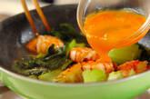 エビとチンゲンサイの卵炒めの作り方3