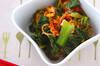 青菜のキムチ和えの作り方の手順