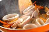 イカとニンジンのみそ炒めの作り方3