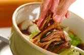 白菜とゼンマイの煮浸しの作り方2