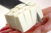 豆腐入りとろとろ卵汁の下準備1