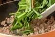 ニラとひき肉の卵焼きの作り方1