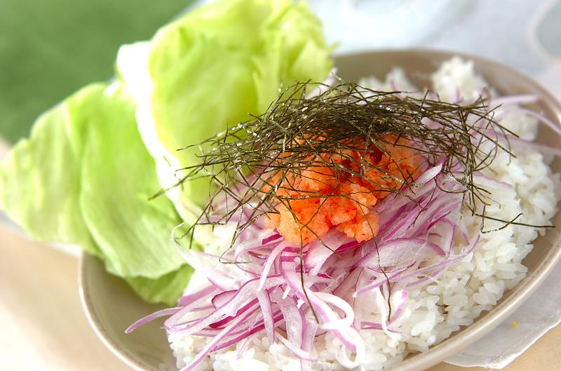 サラダ風明太ご飯