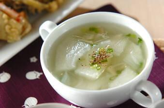 やさしい味!冬瓜とホタテのスープ