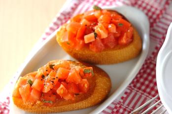 フレッシュトマトのブルスケッタ