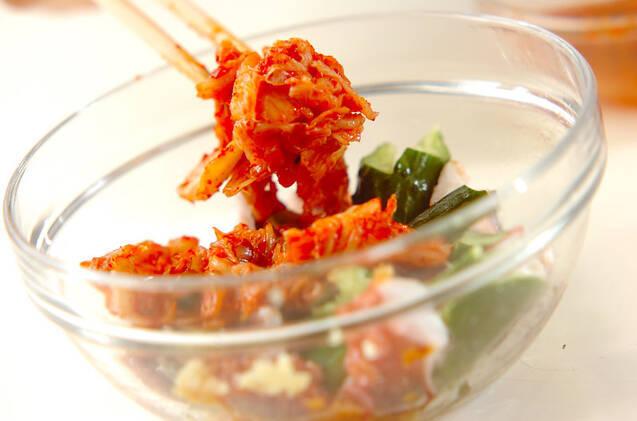 パパっと副菜!タコキムチの作り方の手順5