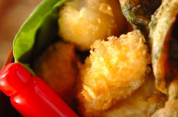 卵と白身魚のフライ