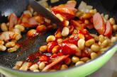 ソーセージと大豆のケチャップ炒めの作り方2