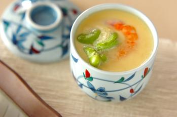ソラ豆の茶碗蒸し