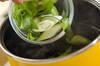 たっぷりネギのみそ汁の作り方の手順4