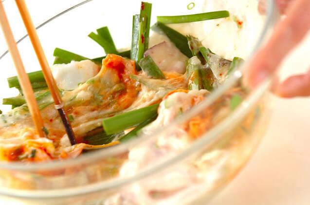 キムチ餅お好み焼きの作り方の手順6