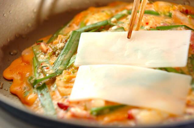 キムチ餅お好み焼きの作り方の手順7