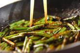 サヤインゲンとニンニクの芽の炒め物の作り方2