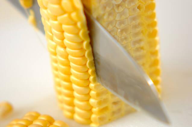 トウモロコシとチーズのスクランブルの作り方の手順2