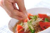 夏野菜の麺汁の作り方1
