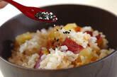 サツマイモのおこわ風炊き込みご飯の作り方4