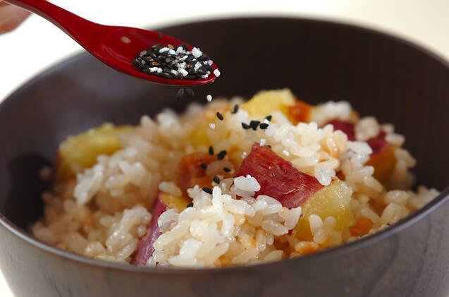 サツマイモのおこわ風炊き込みご飯の作り方の手順4
