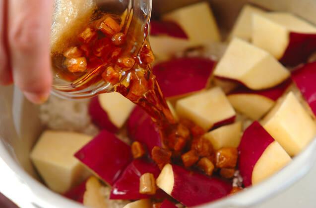 サツマイモのおこわ風炊き込みご飯の作り方の手順3