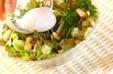 温泉卵のせサラダの作り方1