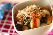 青菜とちくわのゴマ炒め