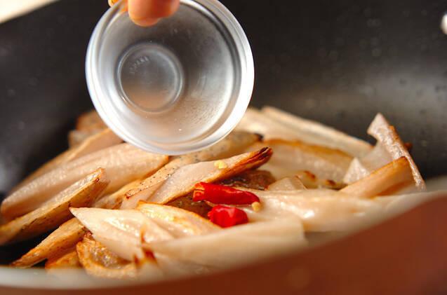 レンコンの塩きんぴらの作り方の手順2