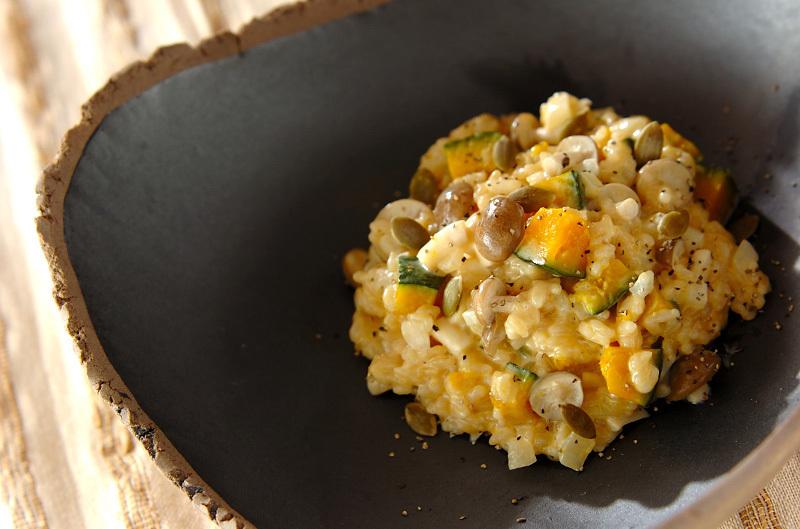 カボチャの玄米リゾット