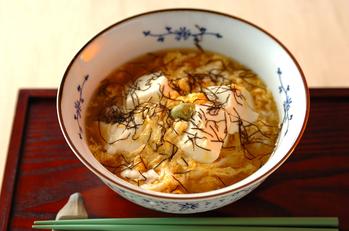 豆腐と卵のスープごはん