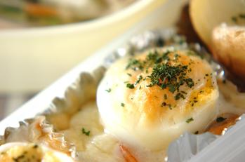 卵入りシーフードグラタン