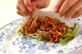 焼き肉生春巻きの作り方4