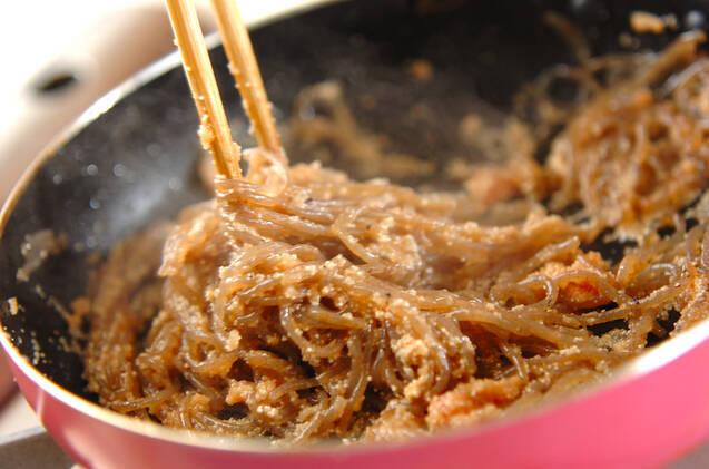 糸コンのめんたいこ炒めの作り方の手順4