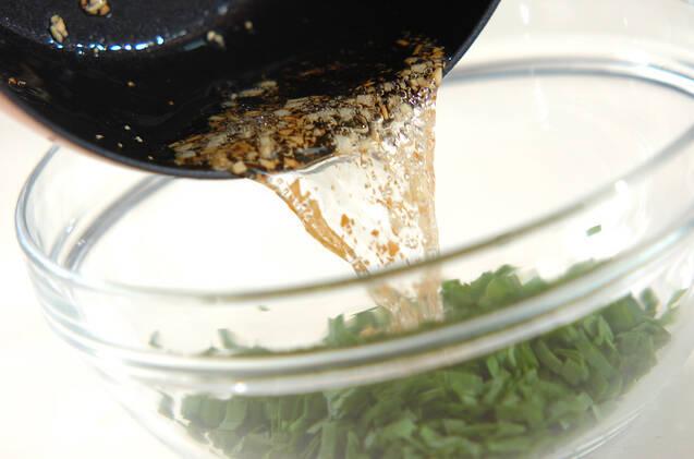 ポークソテーのニラダレの作り方の手順1