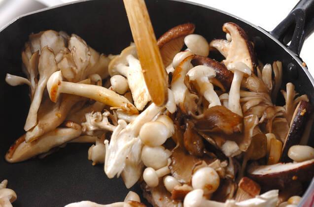 キノコのアンチョビ炒めの作り方の手順7
