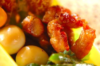 鶏もも肉と卵の照り焼き