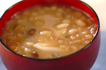 シメジ入り納豆汁