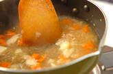 モロヘイヤのガーリックスープの作り方2