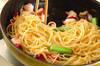 タコのスパゲティーの作り方の手順6