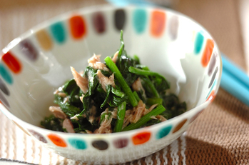 ホウレン草とツナのサラダ