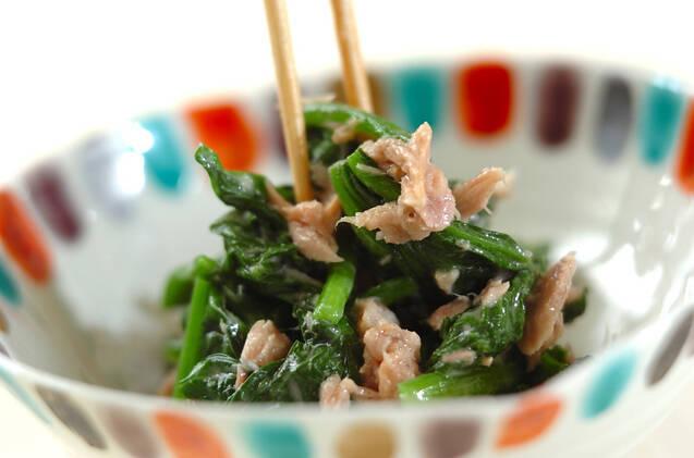 ホウレン草とツナのサラダの作り方の手順3