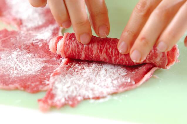 牛肉巻きと小カブのキムチ煮の作り方の手順4