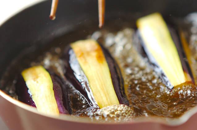 揚げナスのゴマダレがらめの作り方の手順3