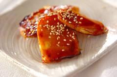 サツマイモの焼き肉タレ焼き