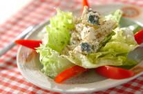 ブルーチーズと豆腐のサラダ