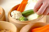 蒸し野菜のサラダの作り方1