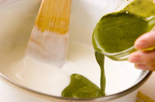 抹茶ミルク葛の作り方の手順3