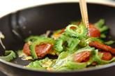 ゴーヤとランチョンミートの炒め物の作り方2