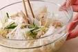 ウドとささ身のサラダの作り方2