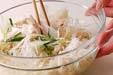 ウドとささ身のサラダの作り方7
