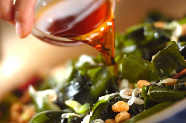納豆とワカメのゴマ油炒めの作り方の手順5