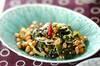 納豆とワカメのゴマ油炒めの作り方の手順